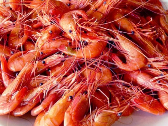 Cocer el marisco - Camarón