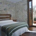 habitación con terraza hotel rural en Galicia con encanto Rías Baixas
