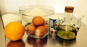 bizcocho para desayunar de naranja - ingredientes